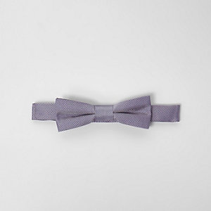 Boys light purple textured bow tie