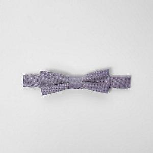 Nœud papillon violet clair texturé garçon