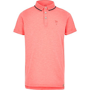 Boys pink fluro polo shirt