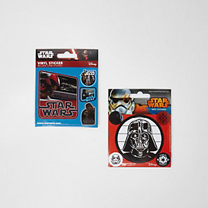 Boys black Star Wars sticker set