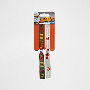 Boys green Star Wars festival wristbands