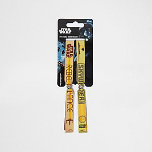 Boys yellow Star Wars festival wristbands