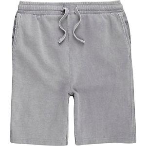 Graue Jersey-Shorts mit Waschung