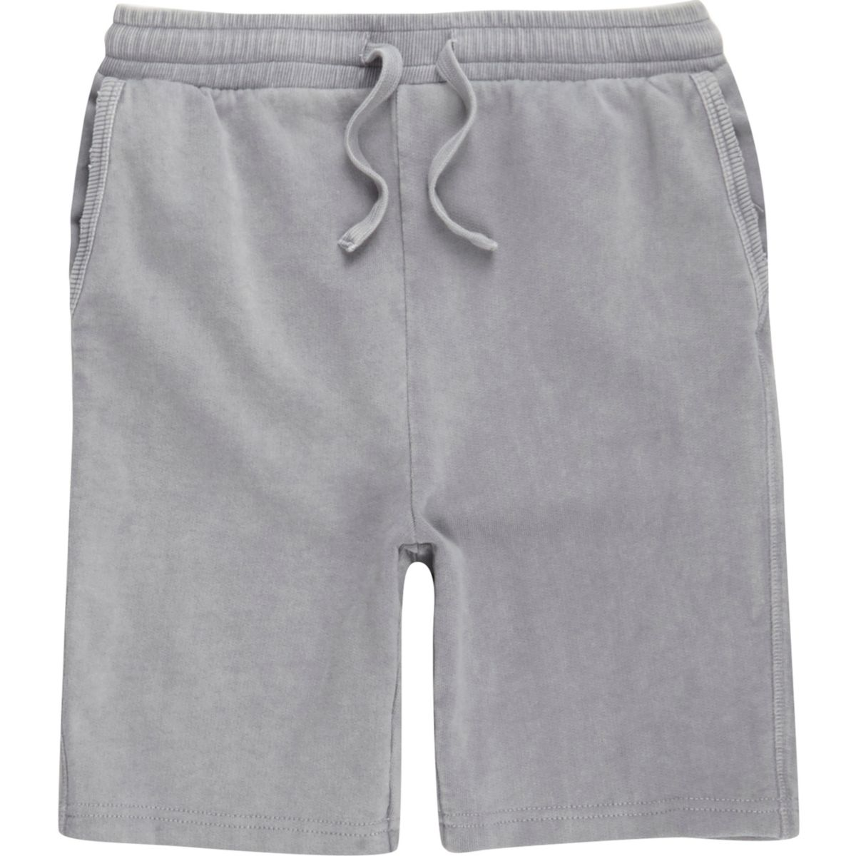Short en jersey gris délavé pour garçon