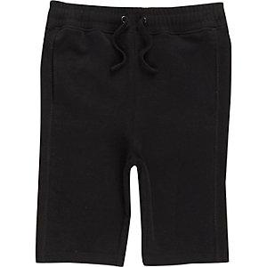 Zwarte jersey short voor jongens
