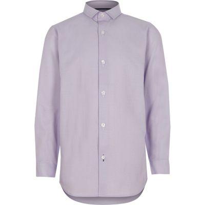 River Island Chemise habillée violet clair garçon