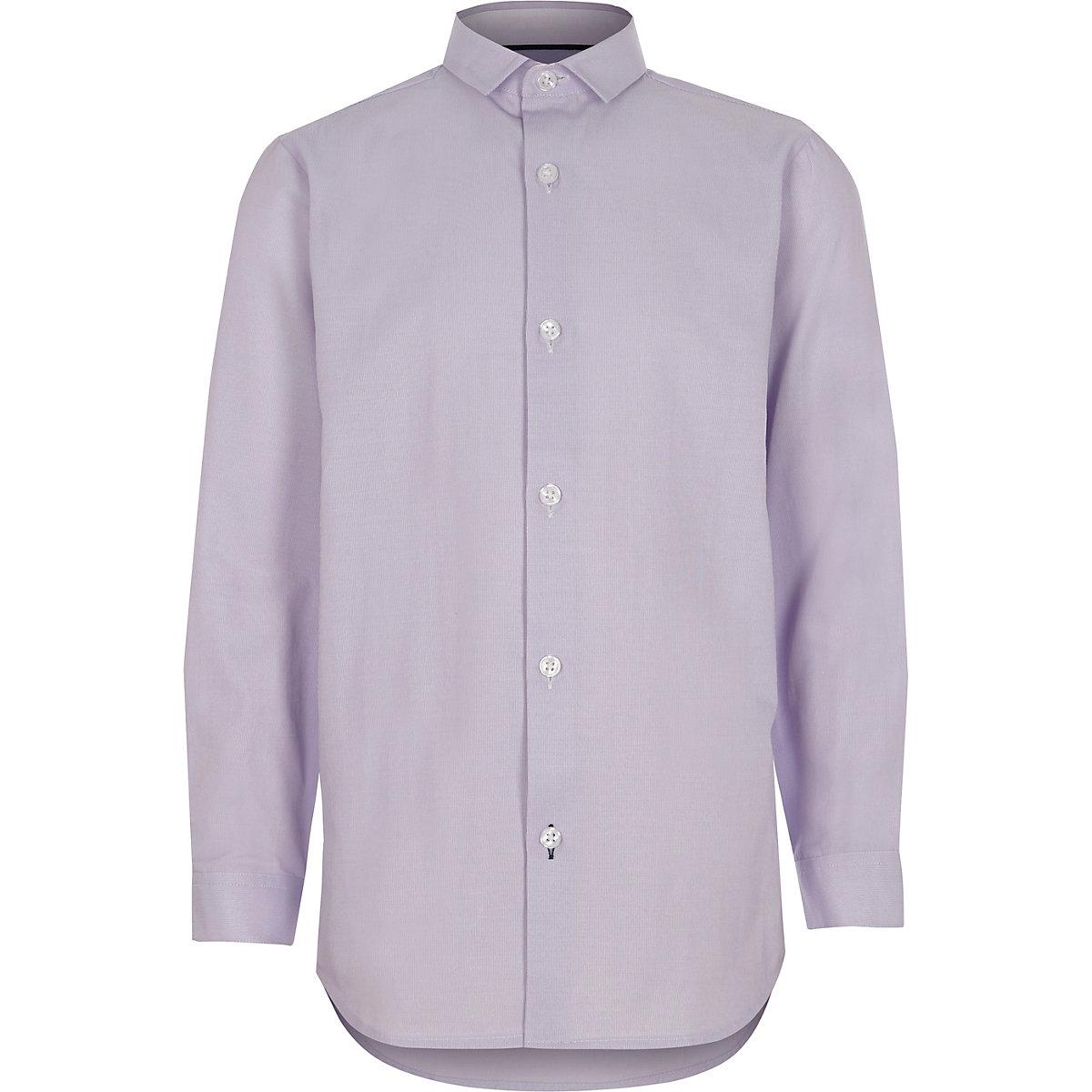 Boys light purple smart shirt