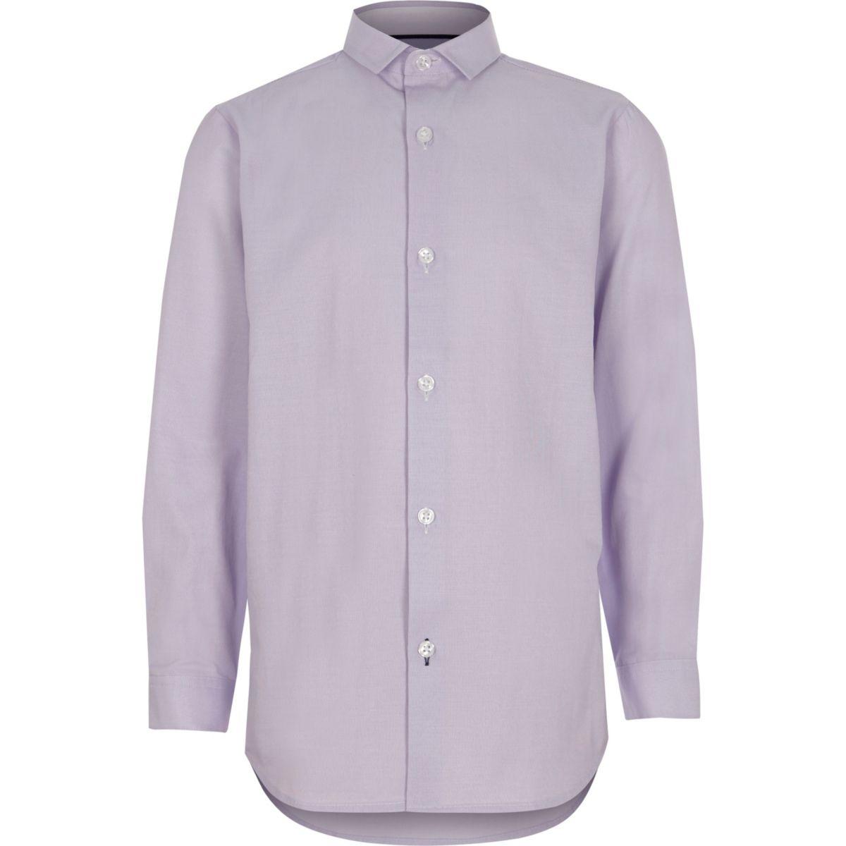 Chemise habillée violet clair garçon