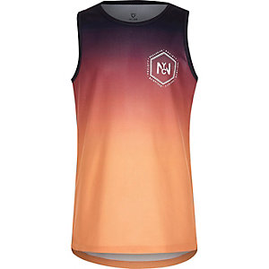 Boys purple 'NYC' fade print tank