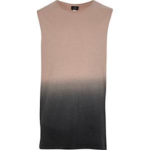 Boys pink grey fade vest