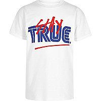 Boys white 'stay true' oversized T-shirt