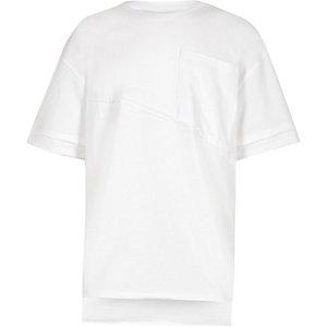Weißes, kastenförmiges Oversized-T-Shirt
