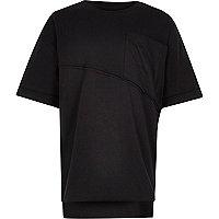 T-shirt oversize noir carré pour garçon
