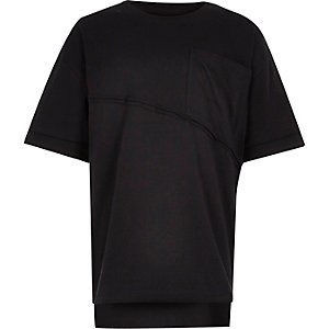 Boys black boxy oversized T-shirt