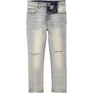 Sid - Blauwe skinny jeans met gescheurde knie voor jongens