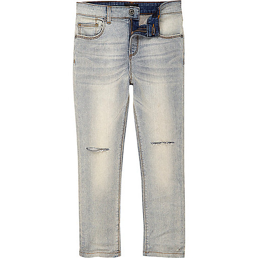 Boys blue Sid ripped knee skinny jeans