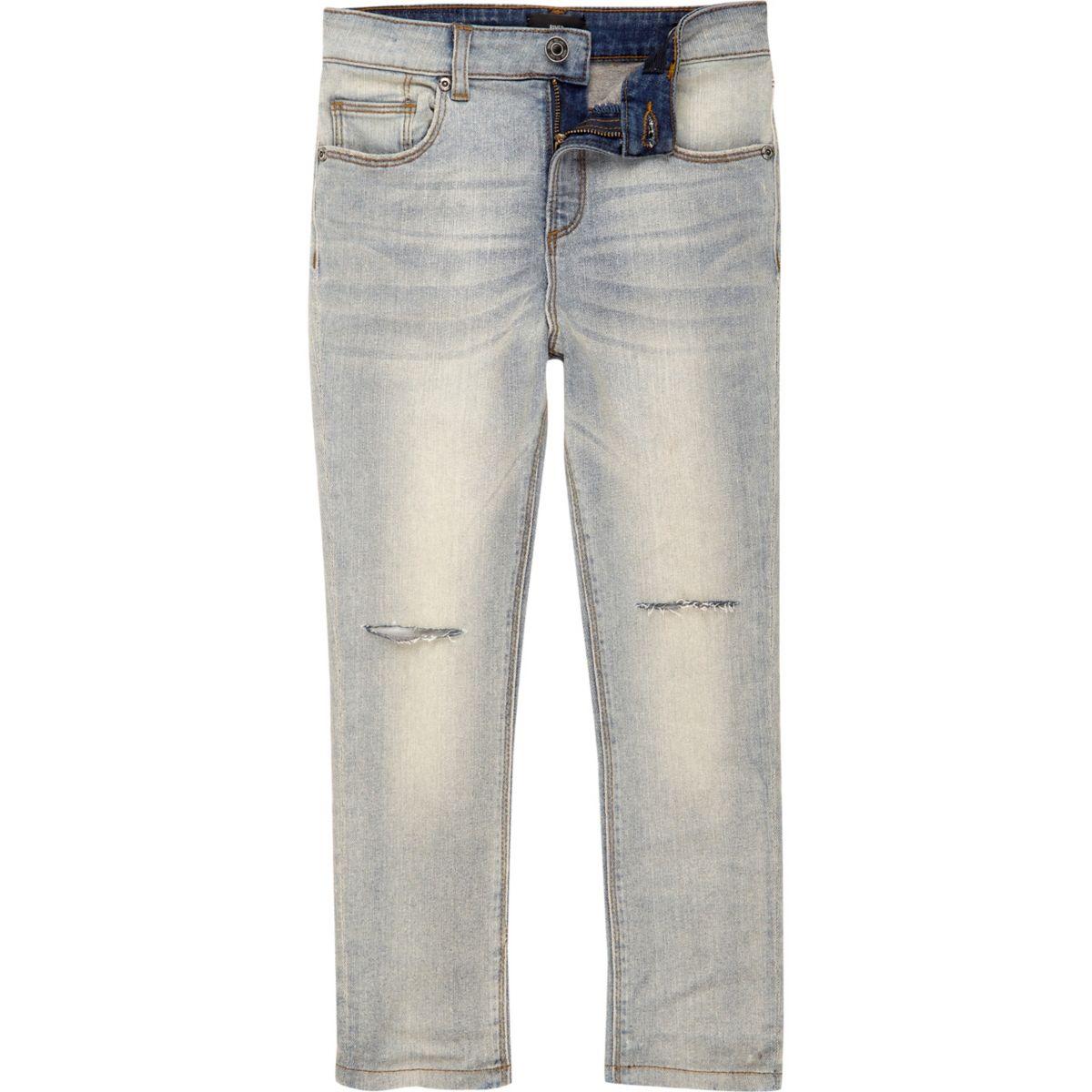Boys blue Sid ripped knee skinny jeans