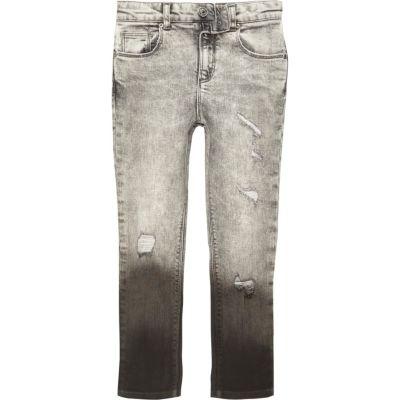 Sid Grijze dip-dye skinny jeans voor jongens