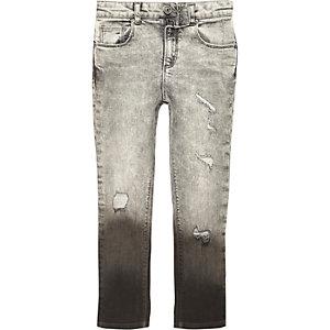 Boys grey Sid dip dye skinny jeans