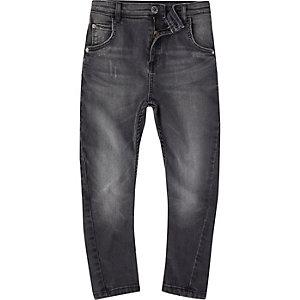 Tony - Zwarte gewassen ruimvallende jeans voor jongens