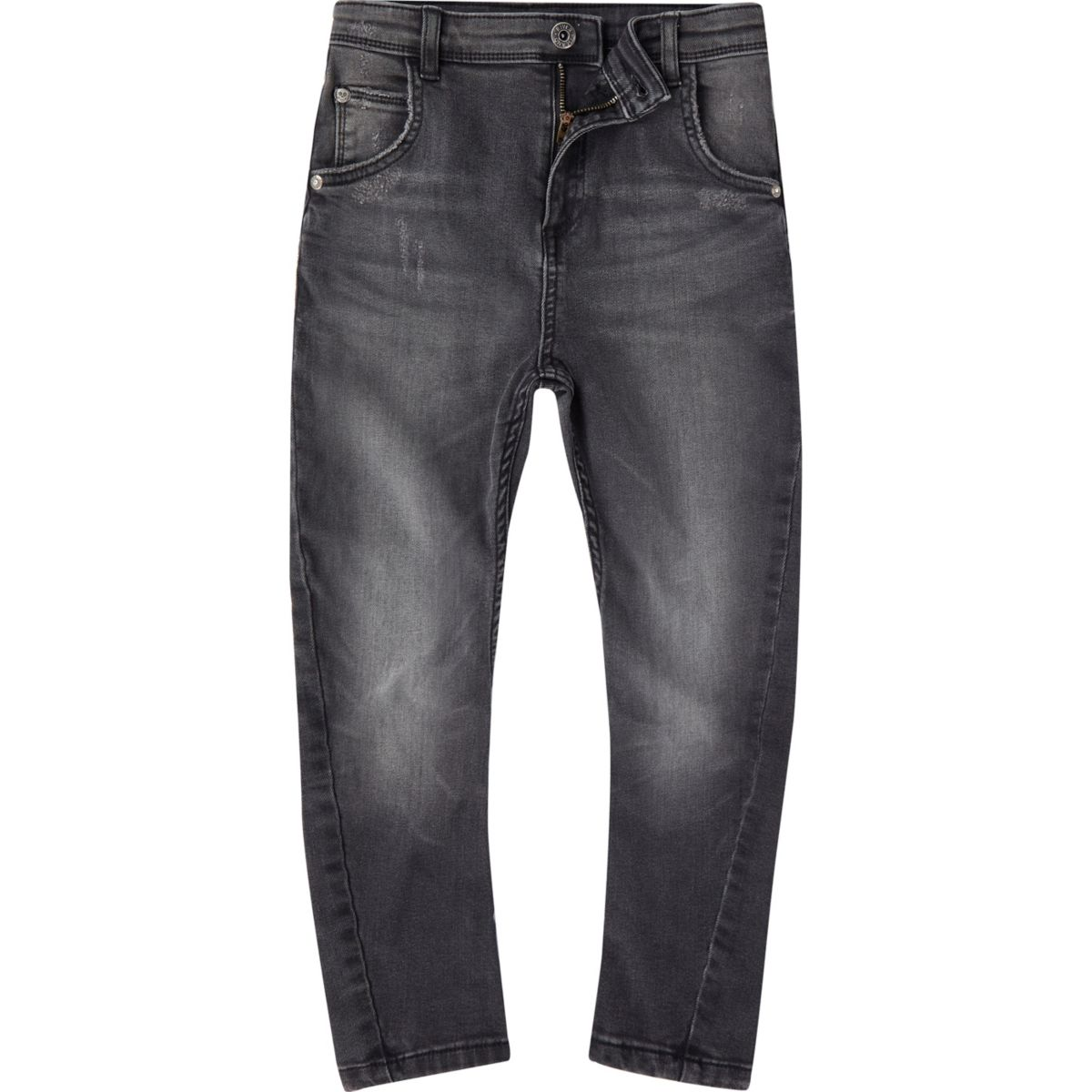 Boys black washed Tony slouch jeans