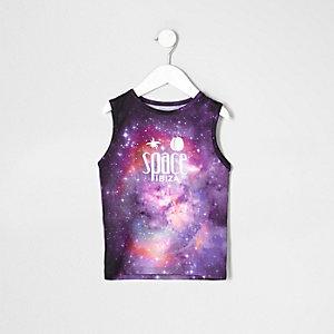 Mini - Paars 'Space Ibiza' hemdje voor jongens