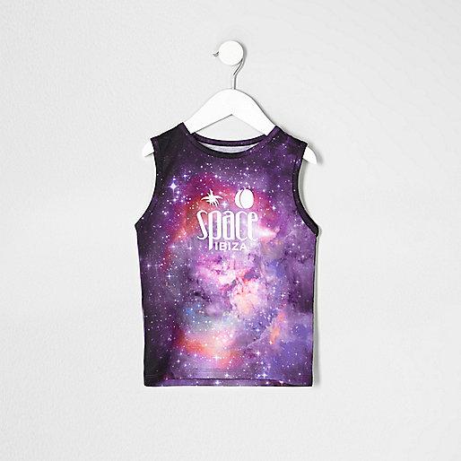 Mini boys purple 'Space Ibiza' tank