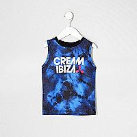 Mini boys blue tie dye 'Cream Ibiza' tank