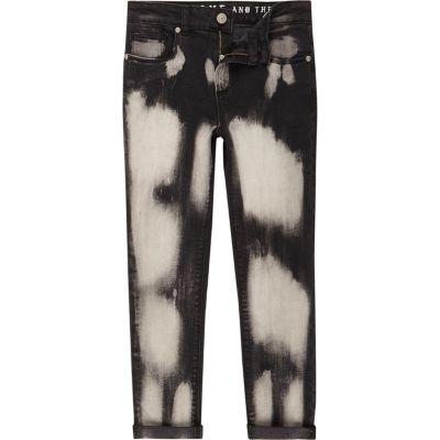 Sid Zwarte gebleekte skinny jeans voor jongens