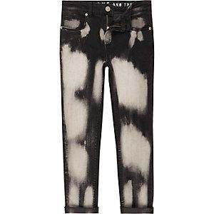 Sid - Zwarte gebleekte skinny jeans voor jongens