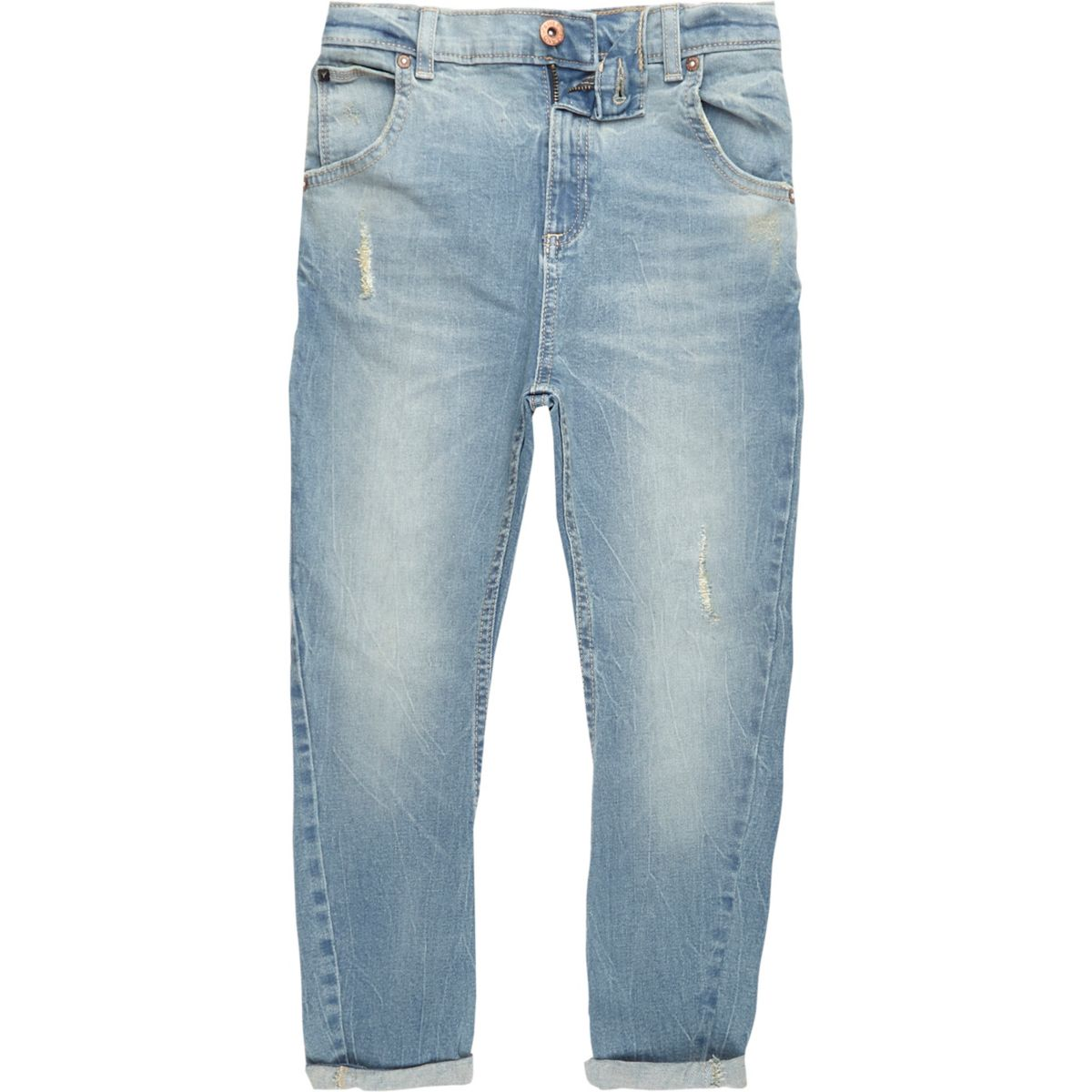 Boys light blue Tony slouch distressed jeans