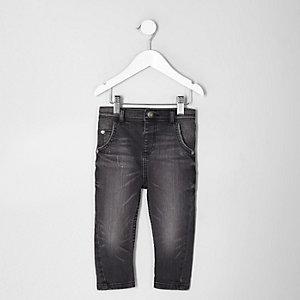 Tony - Mini - Zwarte gewassen ruimvallende jeans voor jongens
