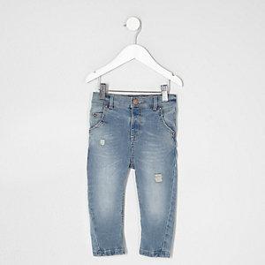 Mini - Tony - Lichtblauwe gescheurde ruimvallende jeans
