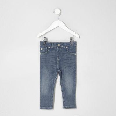 Mini Middenblauwe wash skinny denim jeans voor jongens