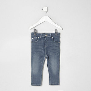 Mini - Middenblauwe wash skinny denim jeans voor jongens