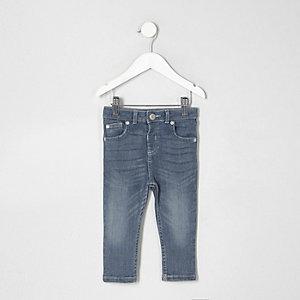 Mini - Middenblauwe wash skinny denim jeans voor jongens