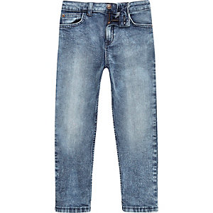 Boys blue acid wash Dylan slim fit jeans