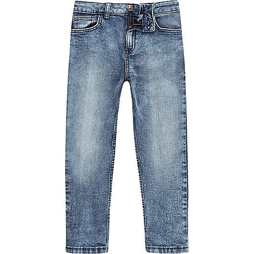 Boys blue acid wash Dylan slim fit jeans