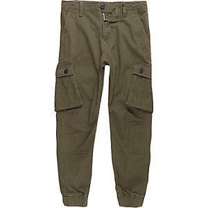 Pantalon cargo kaki garçon