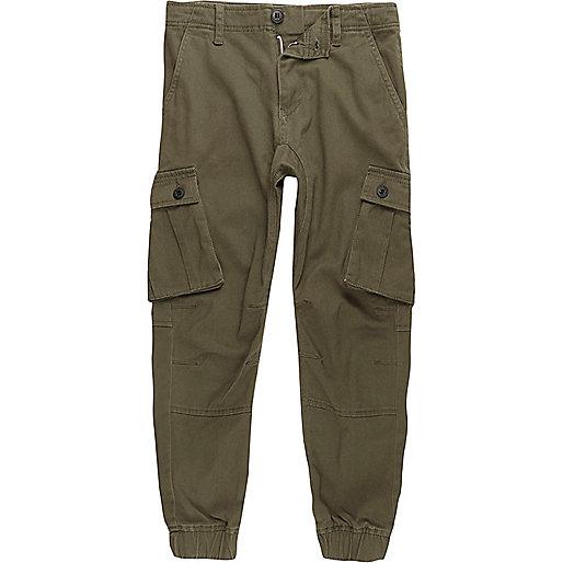 Boys khaki green cargo pants