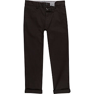 Boys black chino pants