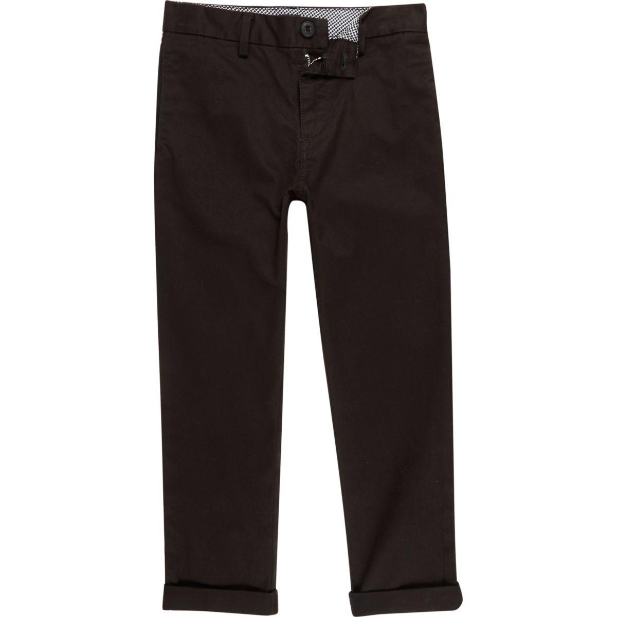 Boys black chino pants