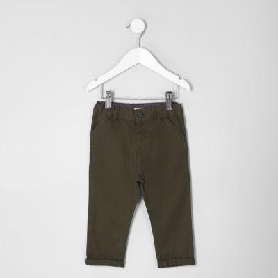 River Island Pantalon chino kaki mini garçon