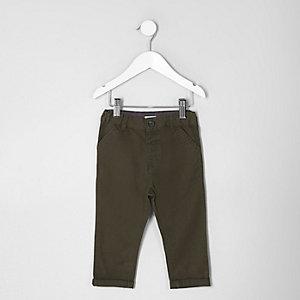 Pantalon chino kaki mini garçon