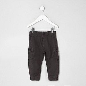 Pantalon cargo gris foncé mini garçon