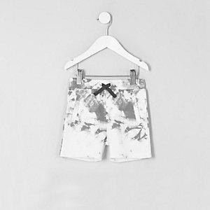 MIni - Witte tie-dye short voor jongens