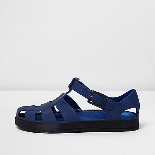 Boys blue jelly sandals