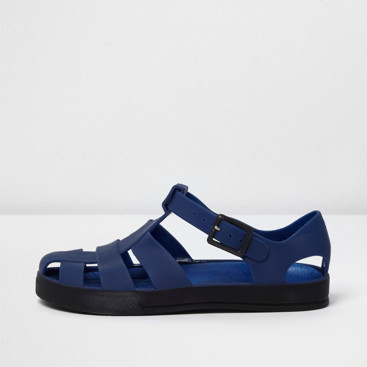 Boys blue jelly sandals