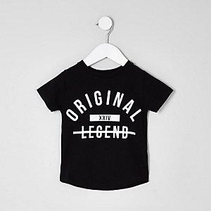 Mini - Zwart T-shirt met 'legend'-print voor jongens