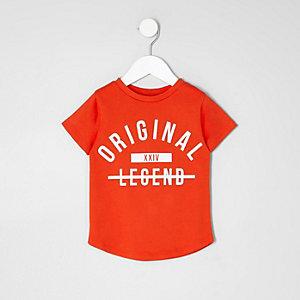 Mini - Rood T-shirt met 'Original'-print voor jongens